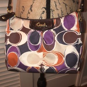 Rare! Coach Ashley Scarf Print Swingpack